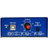 ARX USB Digital DI Box with Volume Control (Stereo DI)